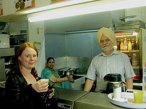 På besøg i den indiske restaurant