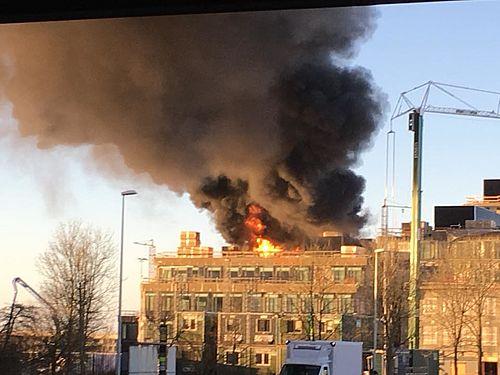 Brand slukket i det nye Teknik- og Miljøhus