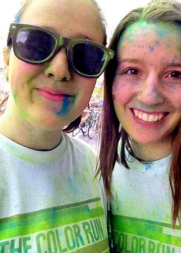 Lauras og Idas første farverige besøg