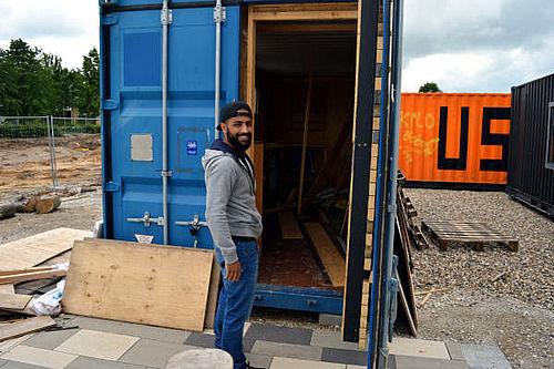 Containerværksted for beboerne