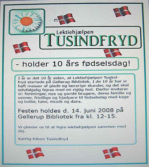 10 år med 'Lektiehjælpen Tusindfryd' fejres