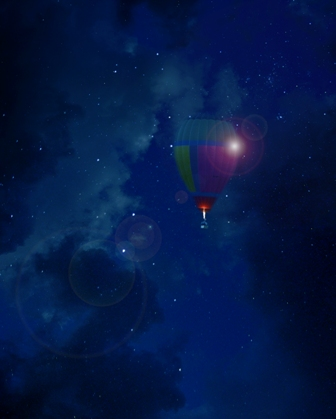 Balloon Dream - A4 Illustrative composite photography by Deb Gartland