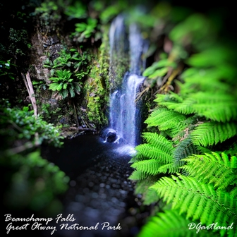 Beauchamp Falls 2 - Square Photography by Deb Gartland