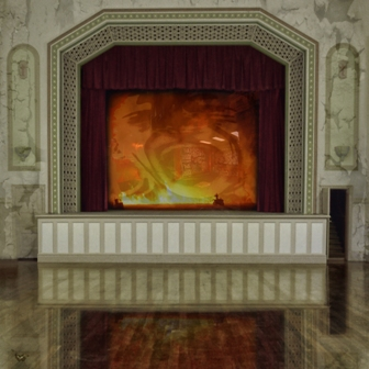 Stage Show - Square Illustrative composite photography by Deb Gartland