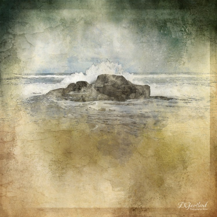 Beached Rocks - Square Illustrative composite photography by Deb Gartland