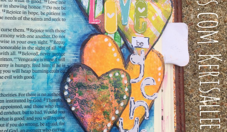 Using Leftover Monoprints for Bible Journaling