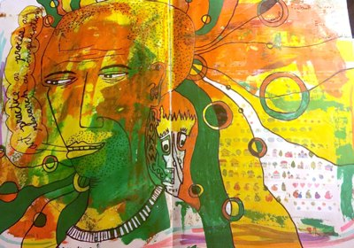 Collaborative Art Journal Page - with Heather Kindt