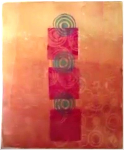 Printmaking with Asemic Writing by Jacqueline Sullivan - Adding Foam Stamp Designs