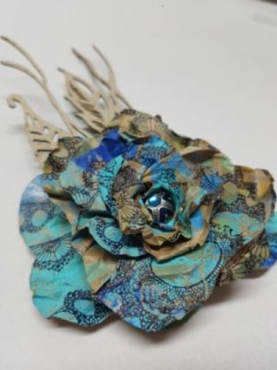 Kraft Paper Flower Corsage with Karen Ellis