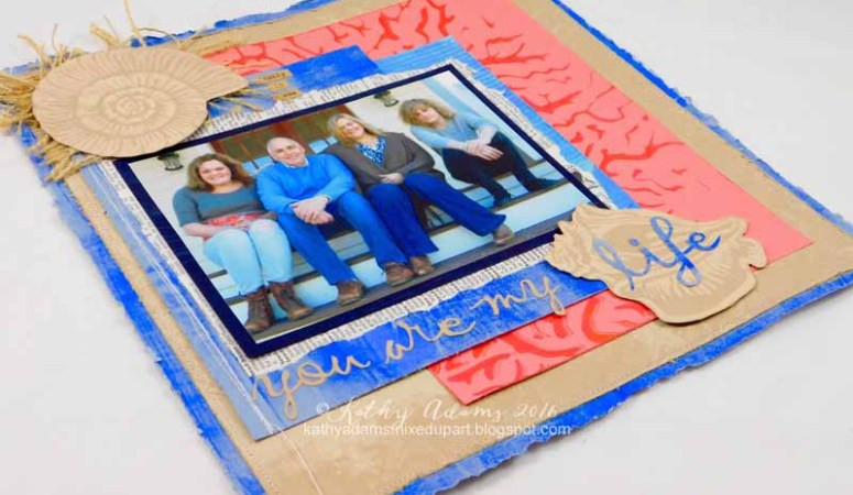 Create Your Own Scrapbook Papers with Gel Press