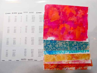 Make handmade business cards with Gel Press® Prints and Avery Labels