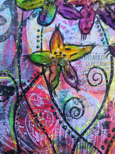 Mixed Media with Gel Press by Keri Sallee