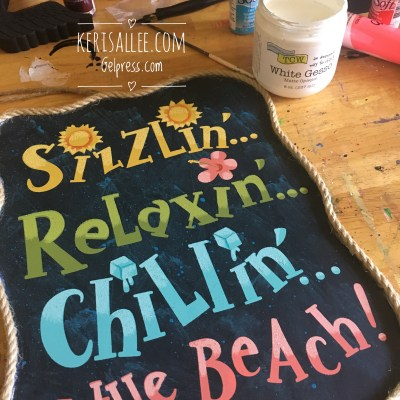 Quick and Fun Menu Board Project with Gel Press by Keri Sallee