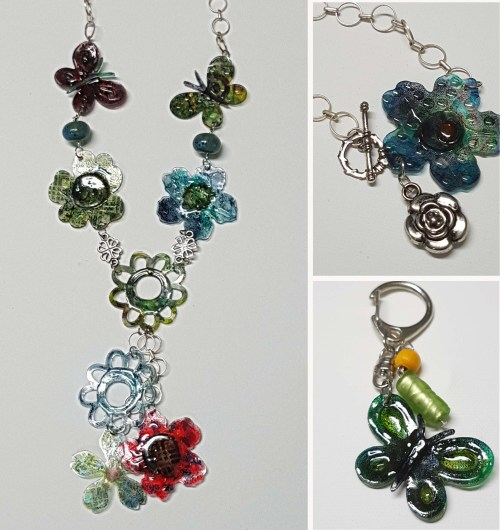 Making Shrink Plastic Charms with Gel Press by Karen Ellis