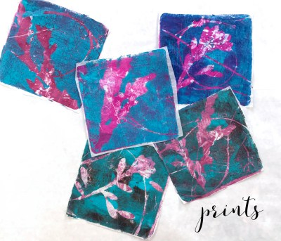 Travel Journal Nature Printing with Gel Press by Trish McKinney