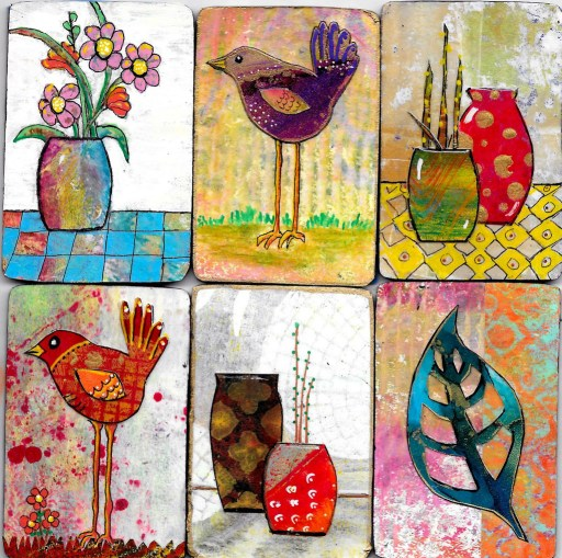 Miniatures Prints by Linda Crocco for Gel Press