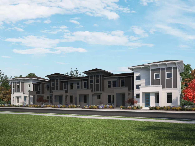 Townhome modelo Jenner a partir de USD 377,990  182 mt²  3 dormitórios  2,5 banheiros  2 vagas de garagem cobertas