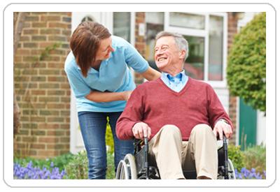 Man in wheelchair with a roll n go gel cushion