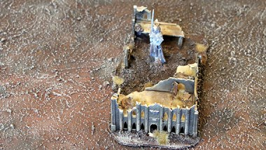 Epic Armageddon Scenery - ruined chapel front