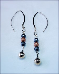 glass & silver earrings