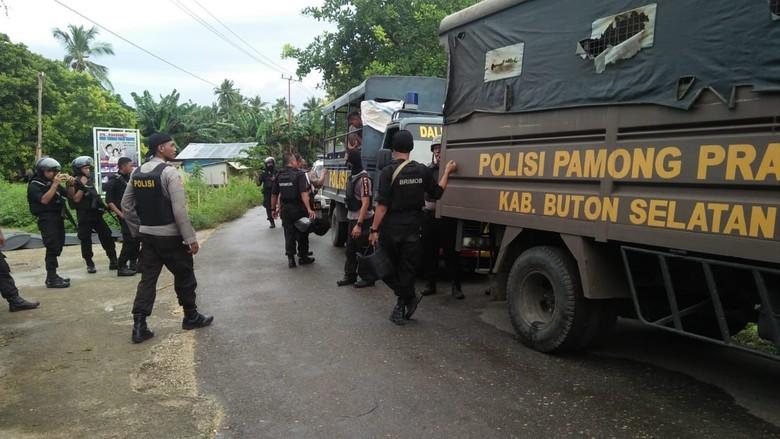 Polisi Amankan 82 Orang Pelaku Kerusuhan Buton