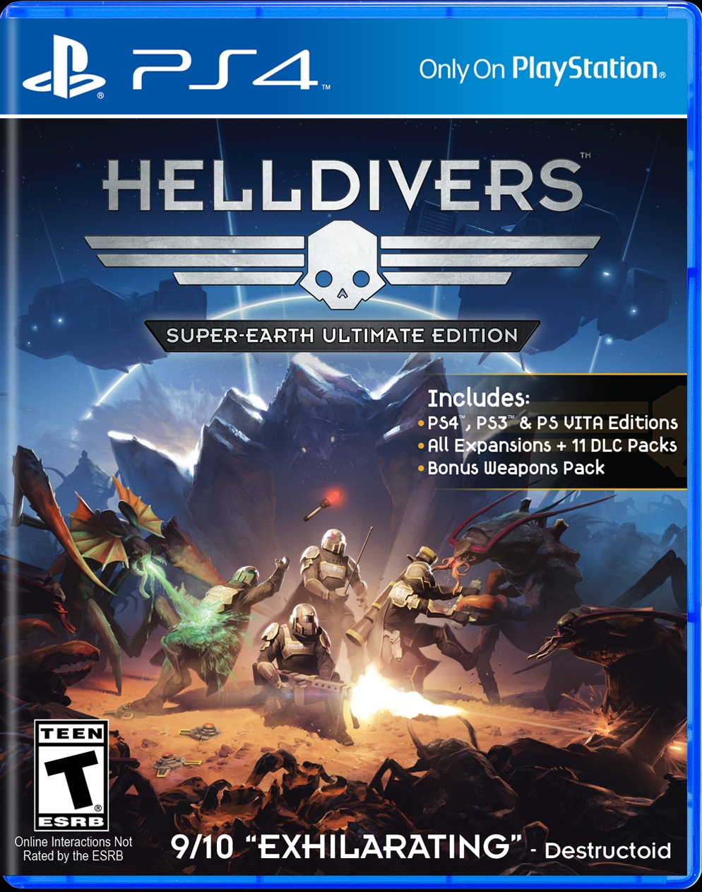 Helldivers PS4 Retail Release Due Out In August Gematsu