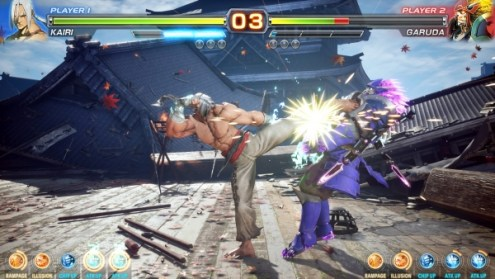 50 minutes of Arika s  Mysterious Fighting Game  gameplay   Gematsu Arika Fighting Game