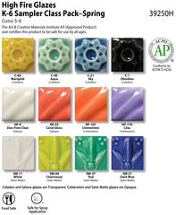HF Class Pack Color Chart  53  Spring 39250H hires - Class Pack High Fire Sampler_??Spring