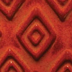 a66 burnt orange tribal chip 2048px - Clay And Slip - NEW