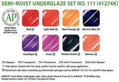 lg5 461 - Semi-Moist Underglaze Set #111