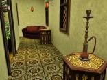 Sitzgelegenheiten im Riad