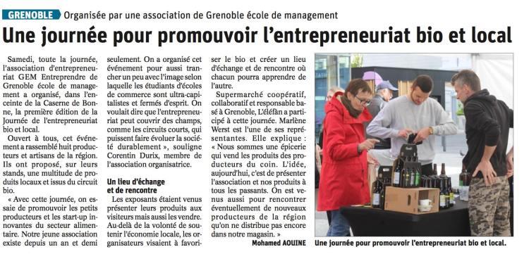 Article Dauphiné JEBL