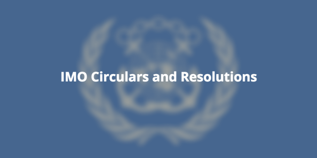 IMO Circulars and Resolutions