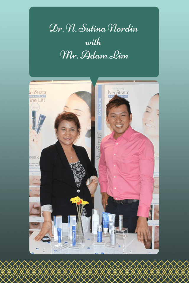 Malaysia's renowned medical aesthetic practitioner with the General Manager of NeoAsia (M) Sdn Bhd