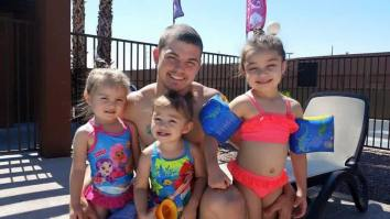 Justin w/daughters