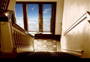 Image of Light Painting Clouded Staircase