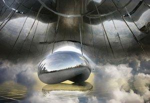 Image of Light Painting Cloud Gate Sculpture