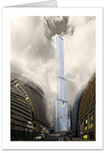 picture of Trump Tower Chicago notecard
