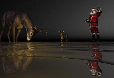 Wading for Santa