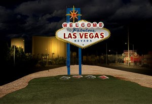 Image of Light Painting Welcome to Las Vegas