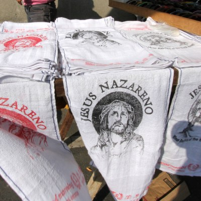 towels with Jesus's face on them