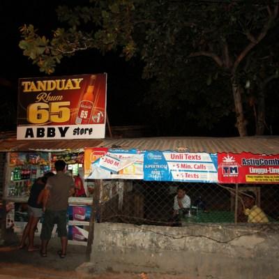 rural sari sari store at night