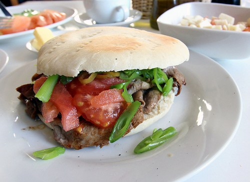 churrasco chacarero sandwich