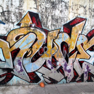 graffiti 6 pack, all from the same street in Makati