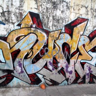 graffiti 6 pack, all from the same street in Makati
