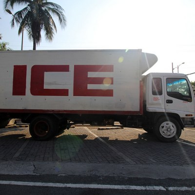five ice trucks