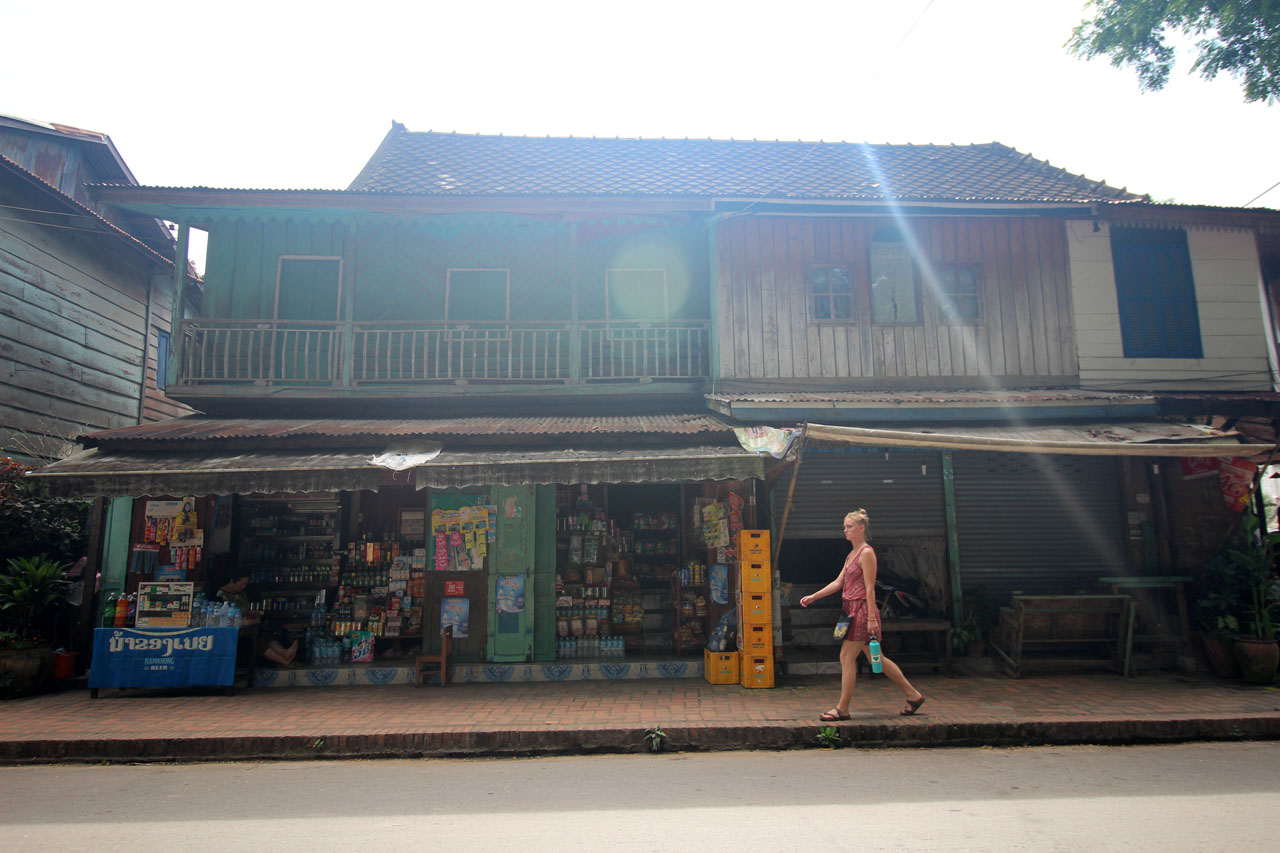 shophouses fronting the Mekong River