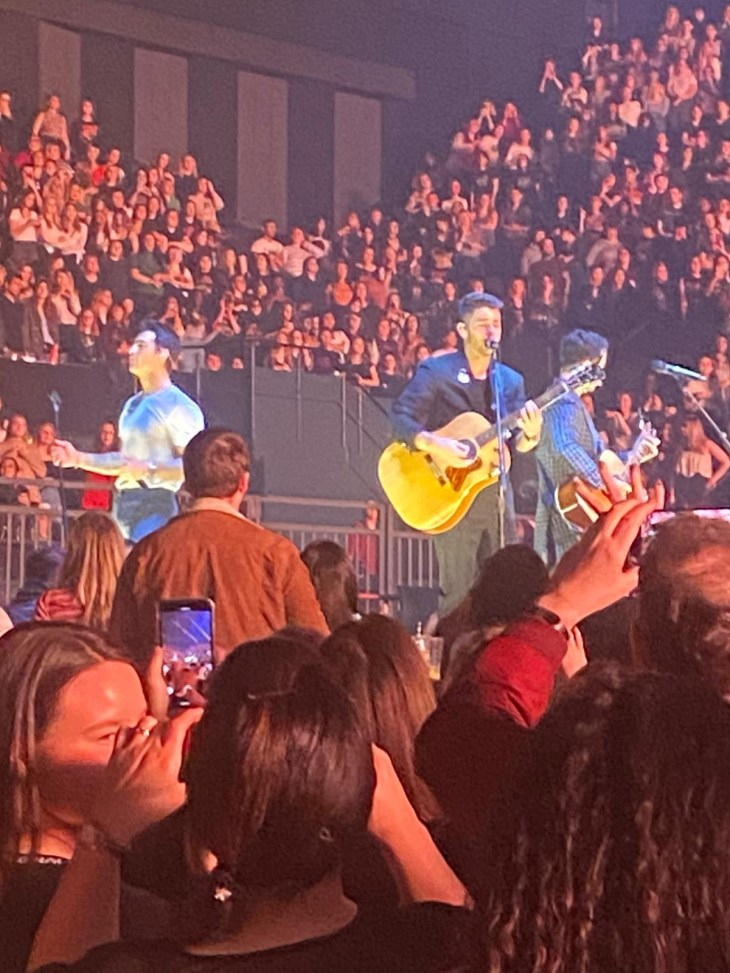 The Jonas Brothers concert in London.