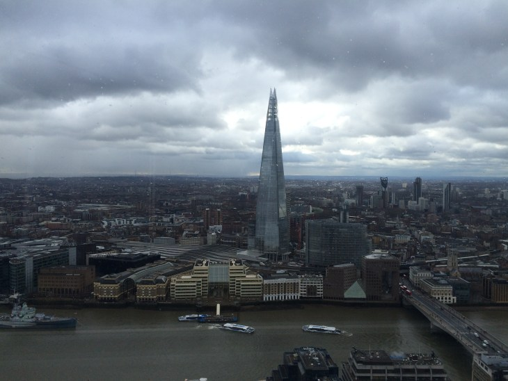 A view of London and the Shard.