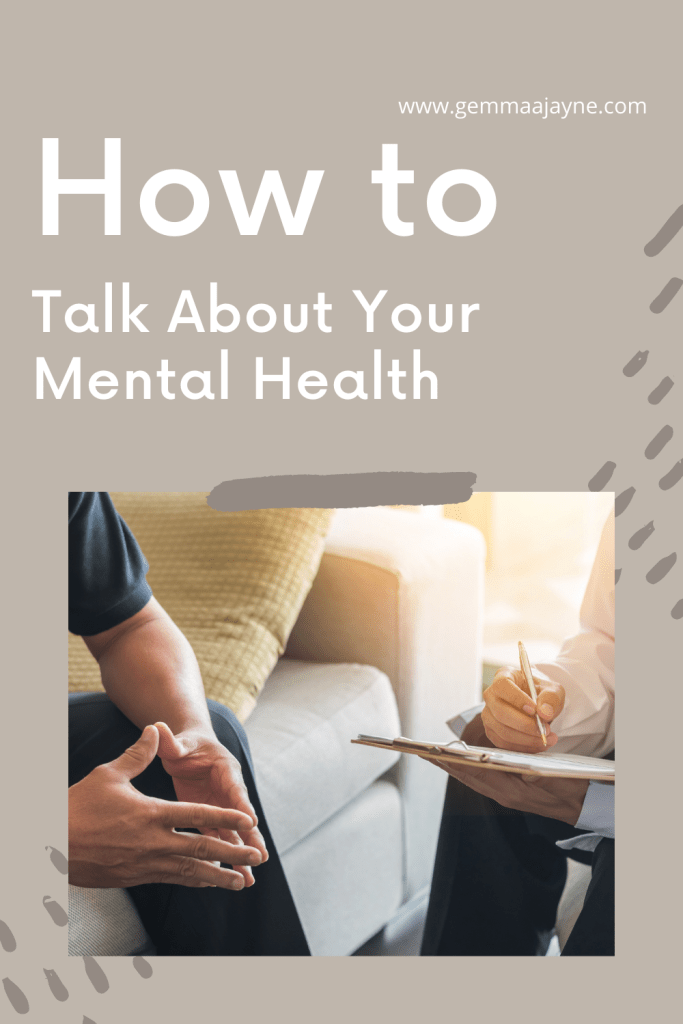 How to talk about your mental health, a pin for pinterest.